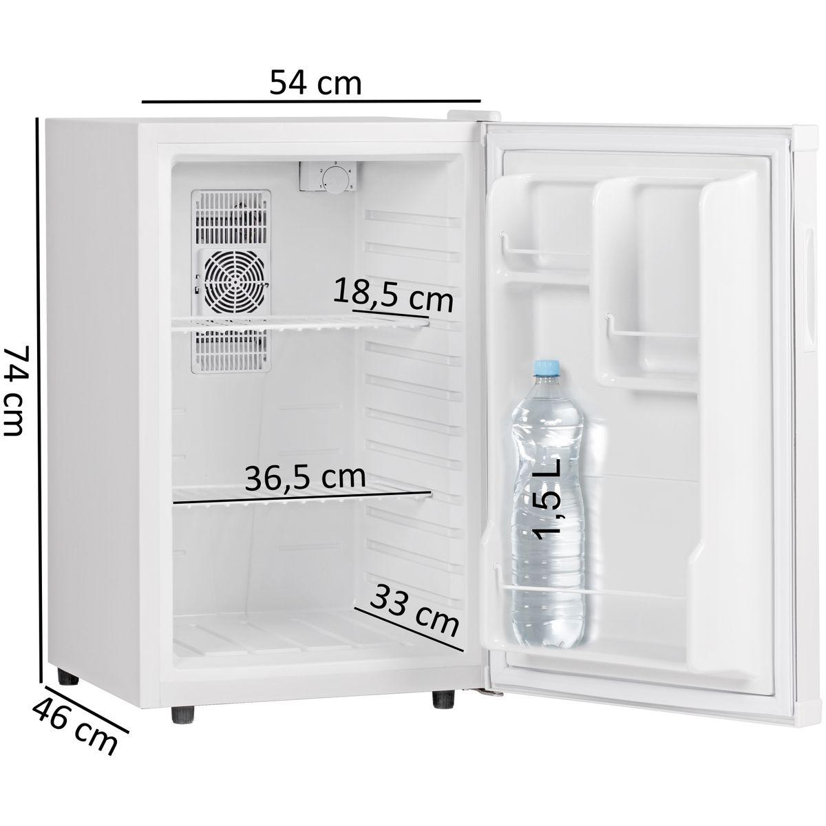 FineBuy Mini Kühlschrank 65 Liter / Minibar weiß ...