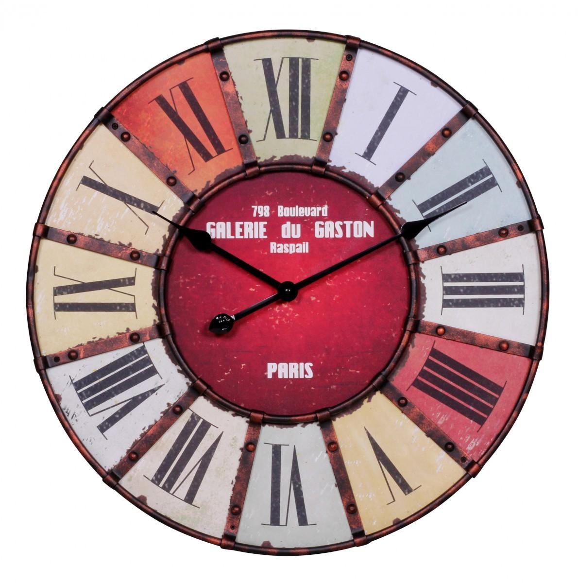 cool finebuy wanduhr xxl cm galerie kchenuhr vintagelook bahnhofsuhr modern rmische ziffern mehrfarbig stilvoll with groe wanduhr mit rmischen zahlen - Bergroe Wanduhr