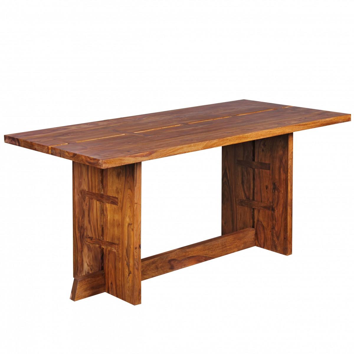 Wohnling design esstisch massivholz sheesham k chentisch for Esstisch 160 x 80