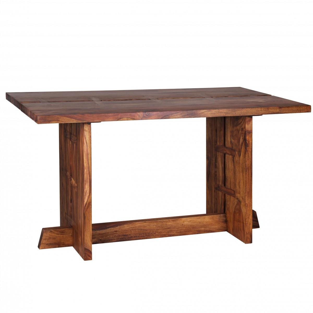 wohnling design esstisch massivholz sheesham k chentisch 140 x 80 cm tisch neu ebay. Black Bedroom Furniture Sets. Home Design Ideas
