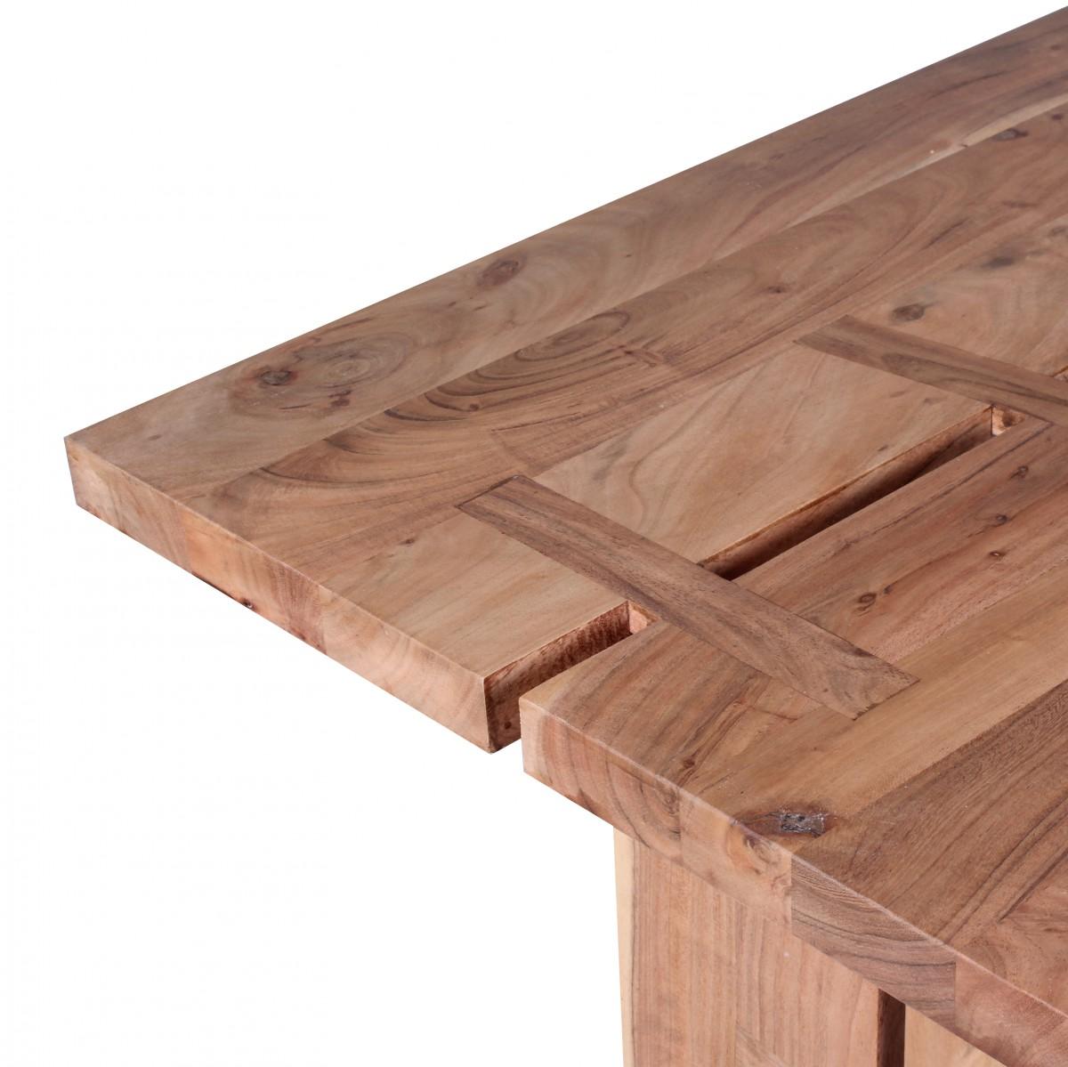wohnling esstisch massivholz akazie 120 cm esszimmer tisch k chentisch design holztisch landhaus. Black Bedroom Furniture Sets. Home Design Ideas