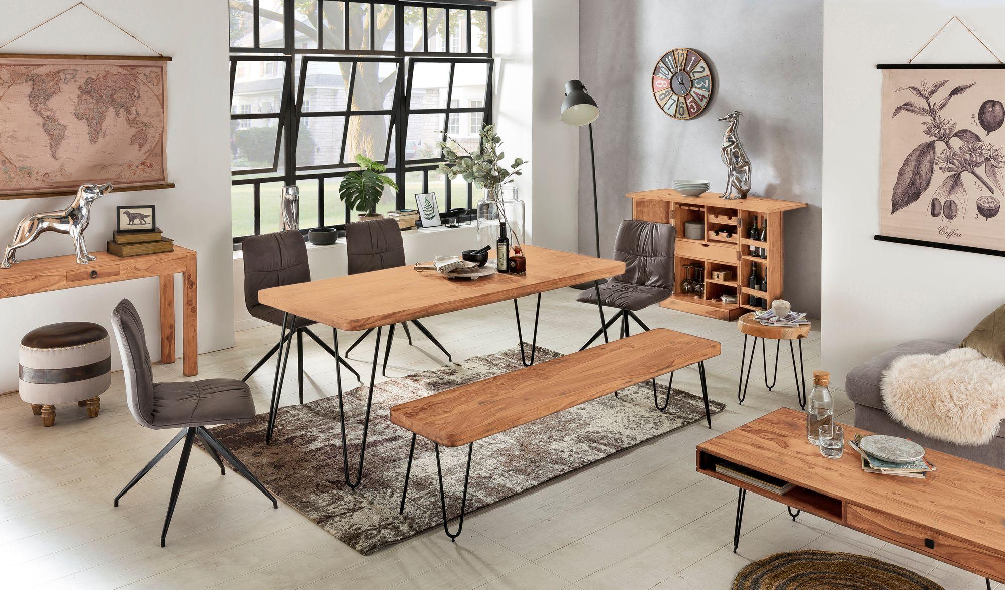 Wohnling Esszimmer Sitzbank Bagli Massiv Holz Akazie 180 X 45 X 40 Cm Holz Bank Natur