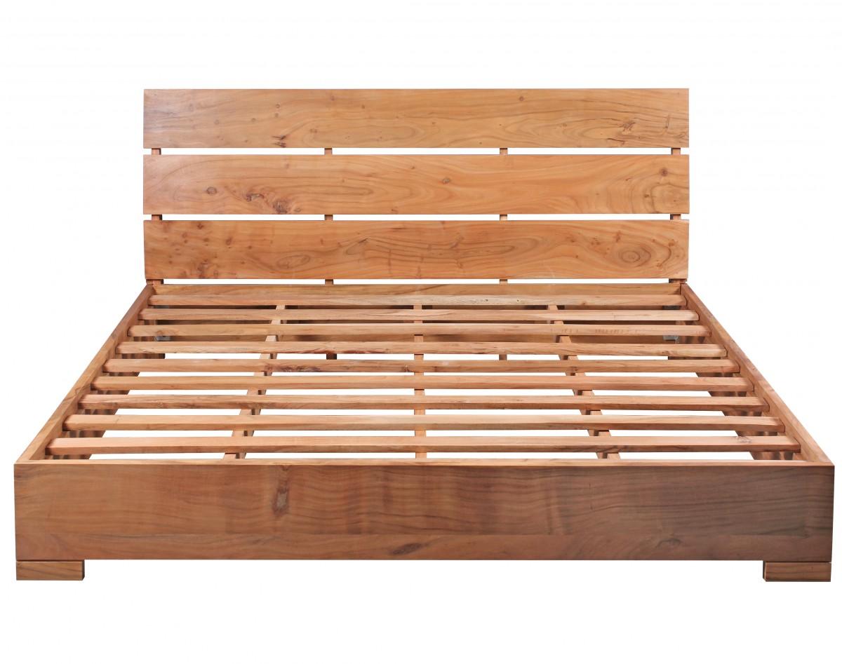 wohnling bettgestell massivholz akazie bett 180x200 cm doppelbett mit lattenrost landhaus stil. Black Bedroom Furniture Sets. Home Design Ideas