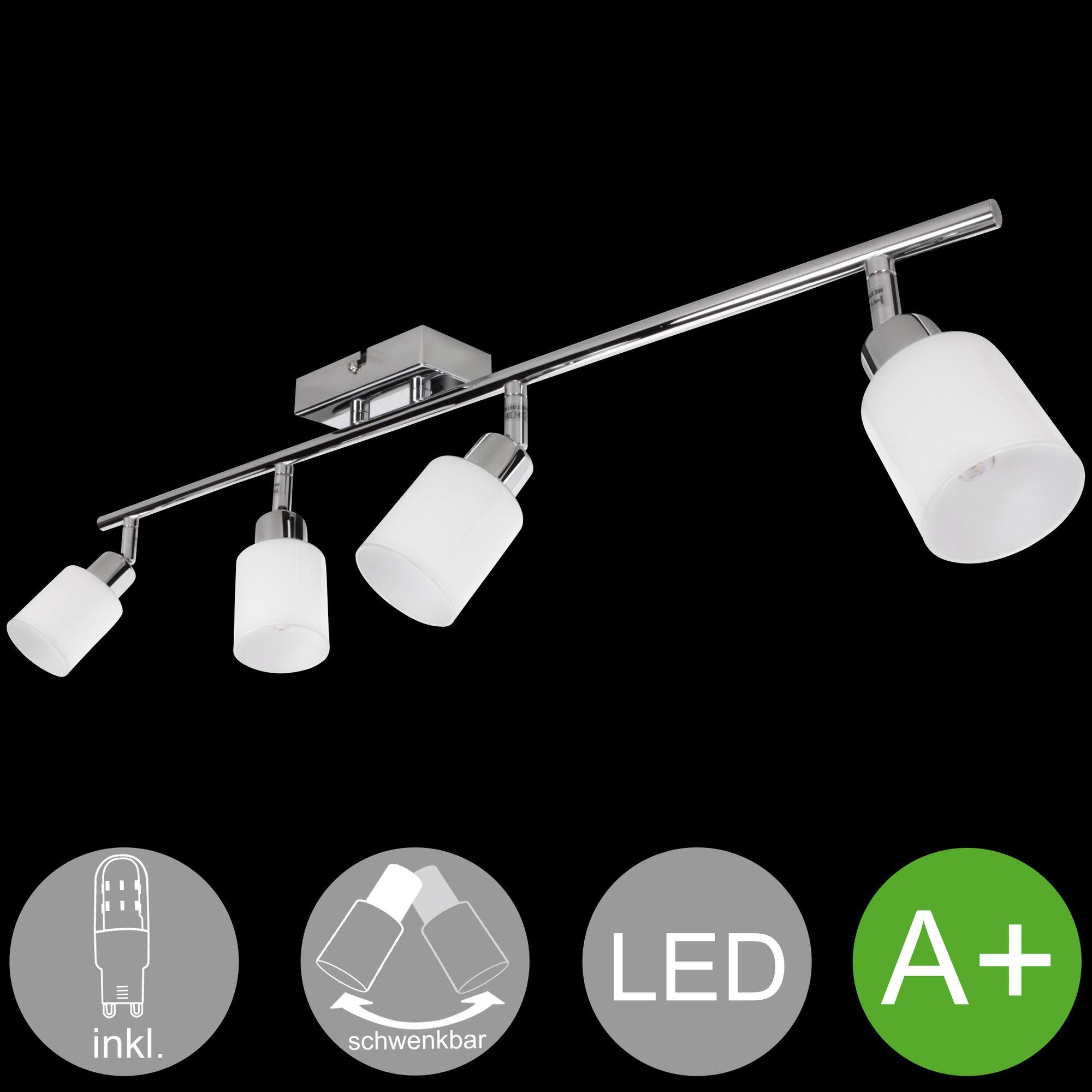Top FineBuy 4 flammige LED Deckenleuchte Lampe Strahler Spot Leuchte AW53