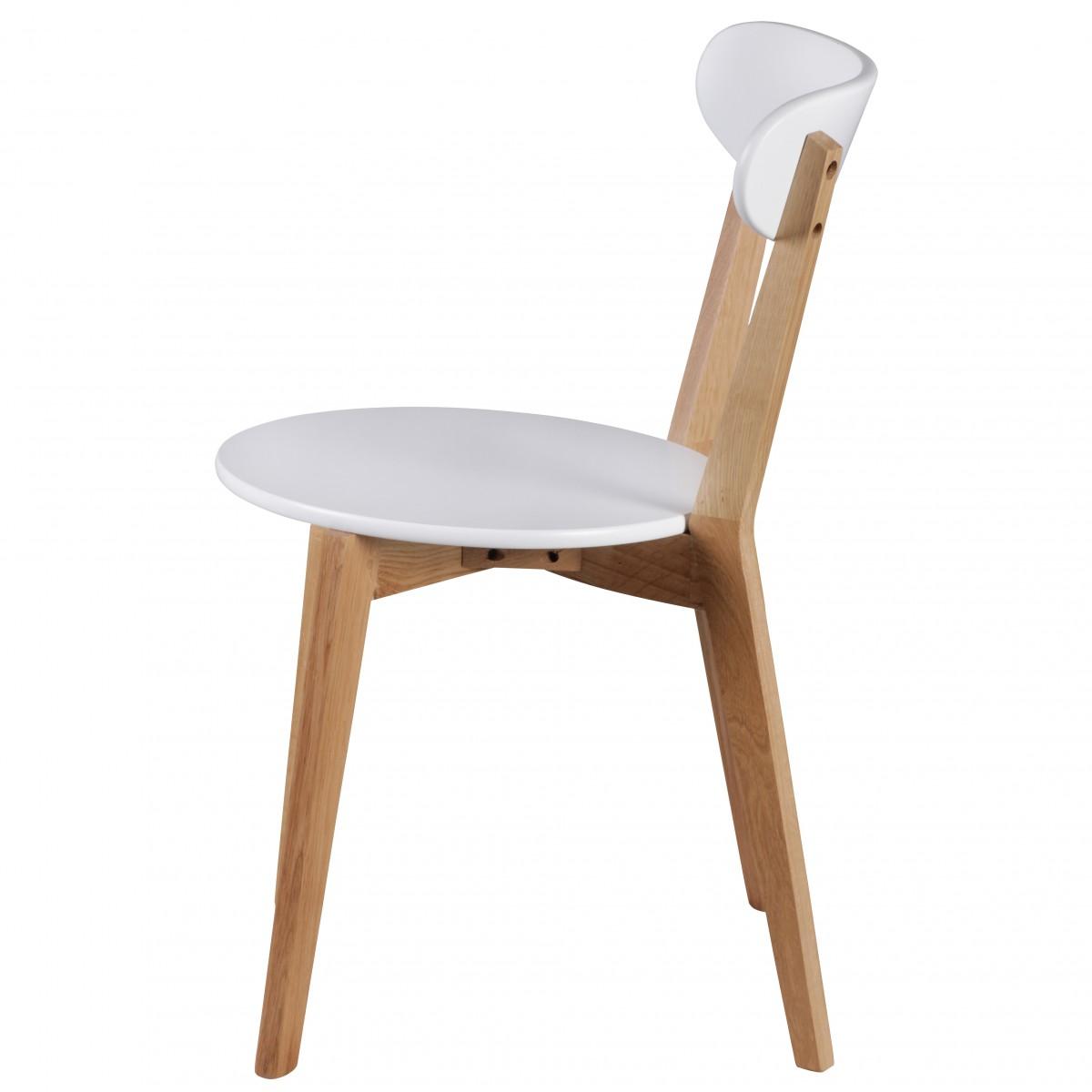 WOHNLING 2er Set Esszimmerstühle SCANIO MDF Weiß Design Holz-Stühle ...