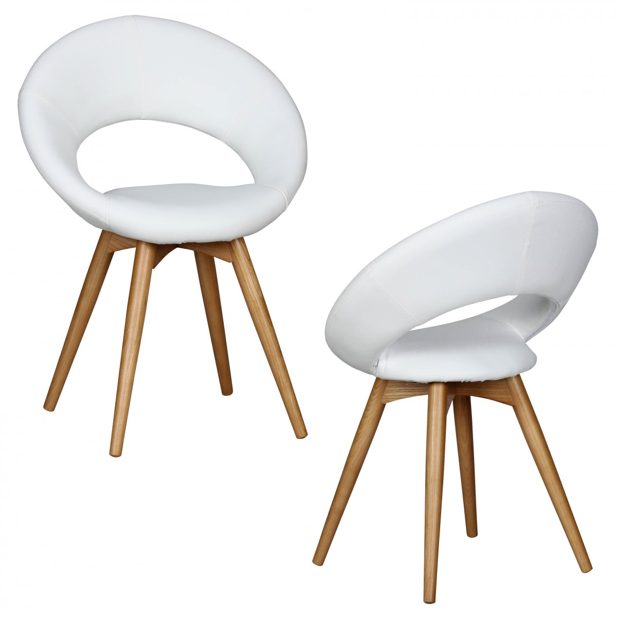 Weiss Holz Kunstleder Esszimmerstühle Online Kaufen Möbel