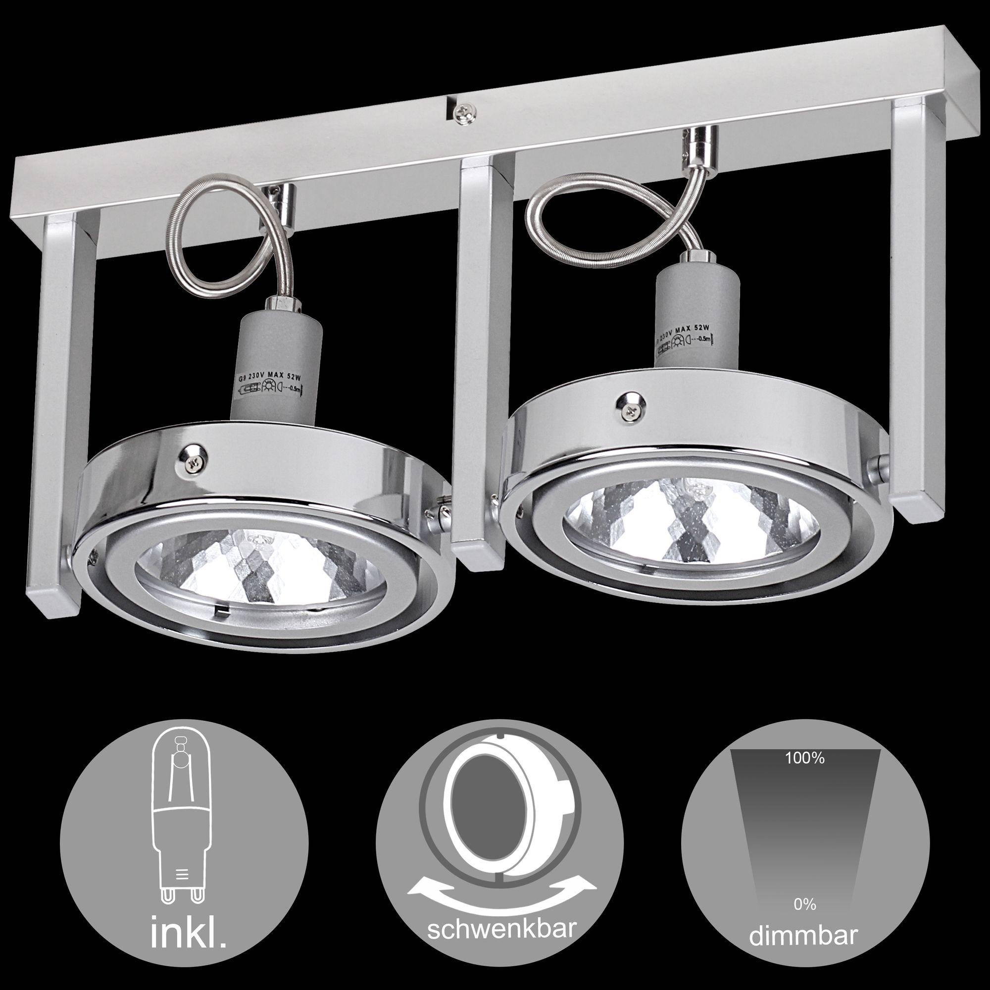 WOHNLING 1 flammig LED Deckenleuchte Lampe Strahler Spot Leuchte G9 EEK: A+