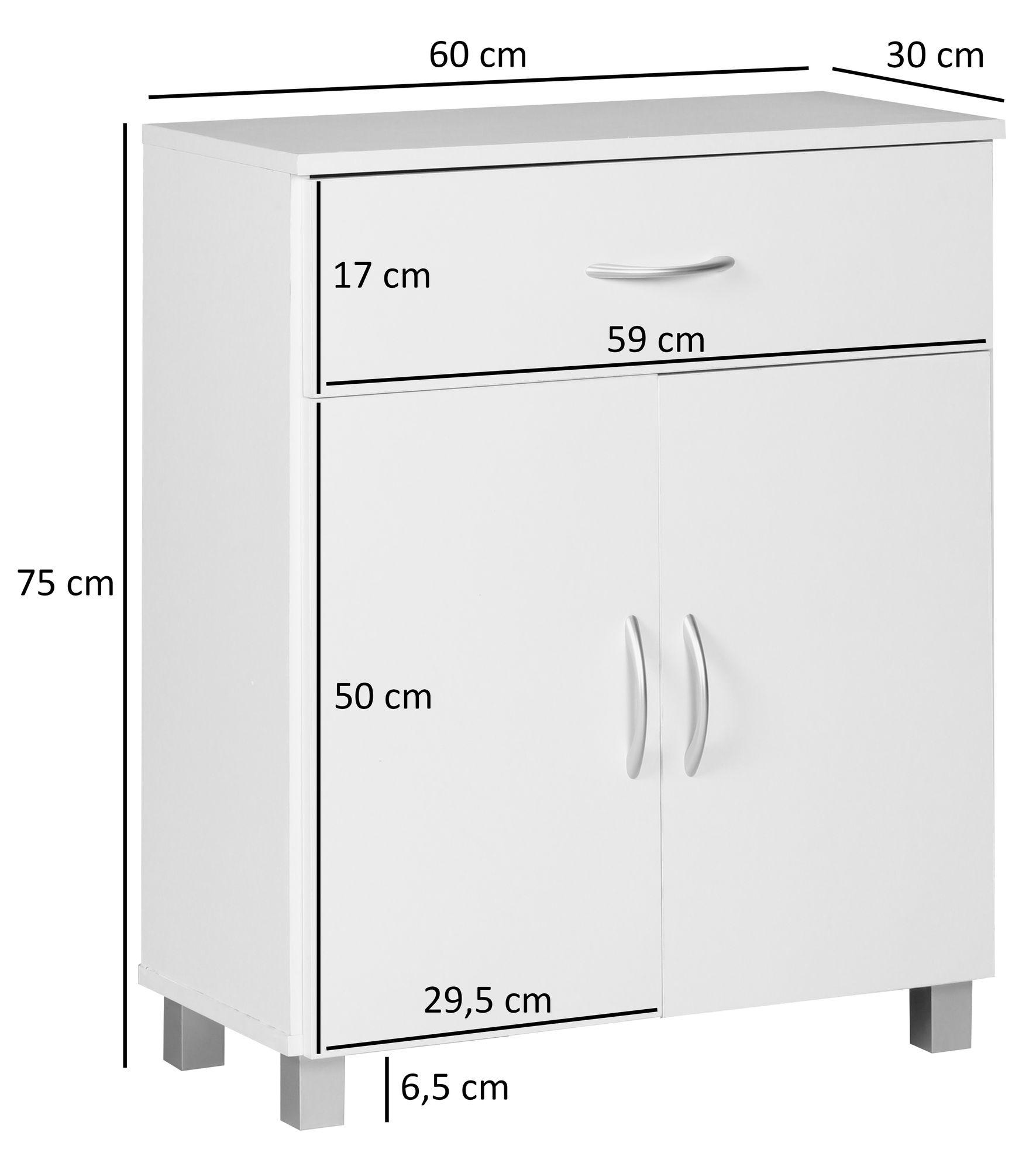 Finebuy Sideboard 60x75x30cm Moderne Kommoden Schrank Kleine Holz Anrichte