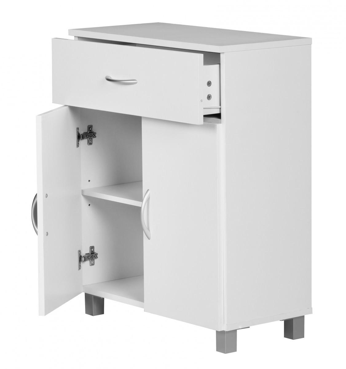 sideboard kommode anrichte regal schrank 60 x 75 cm 2 t ren 1 schublade flur ebay. Black Bedroom Furniture Sets. Home Design Ideas