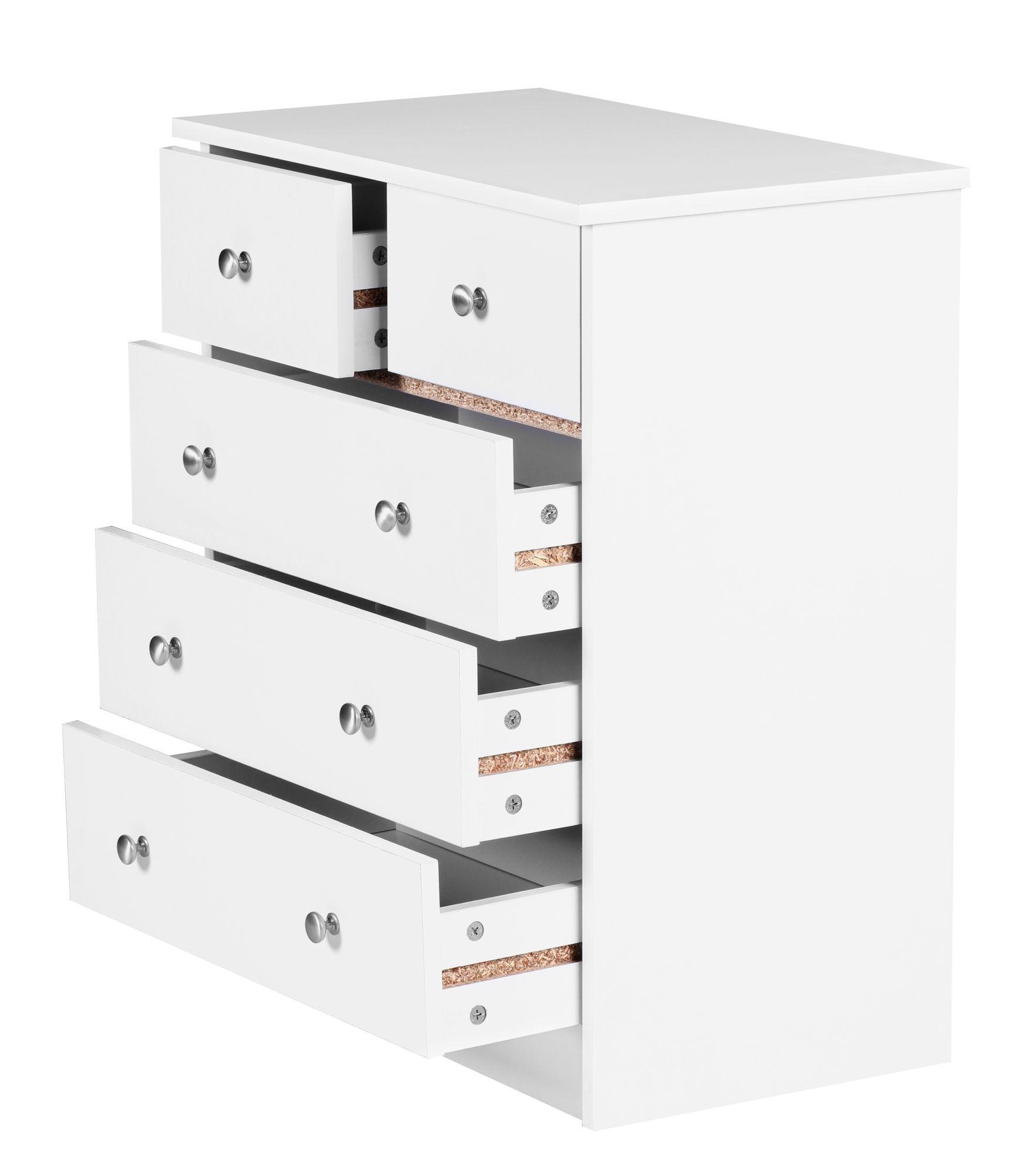 Kommode Mit 5 Schüben Schubladenkommode Sideboard Anrichte Schlafzimmerkommode
