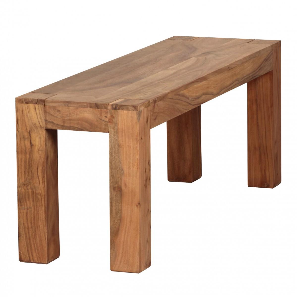 Finebuy akazie massivholz esszimmer sitzbank bank 120 x 35 for Esszimmer bank 120 cm