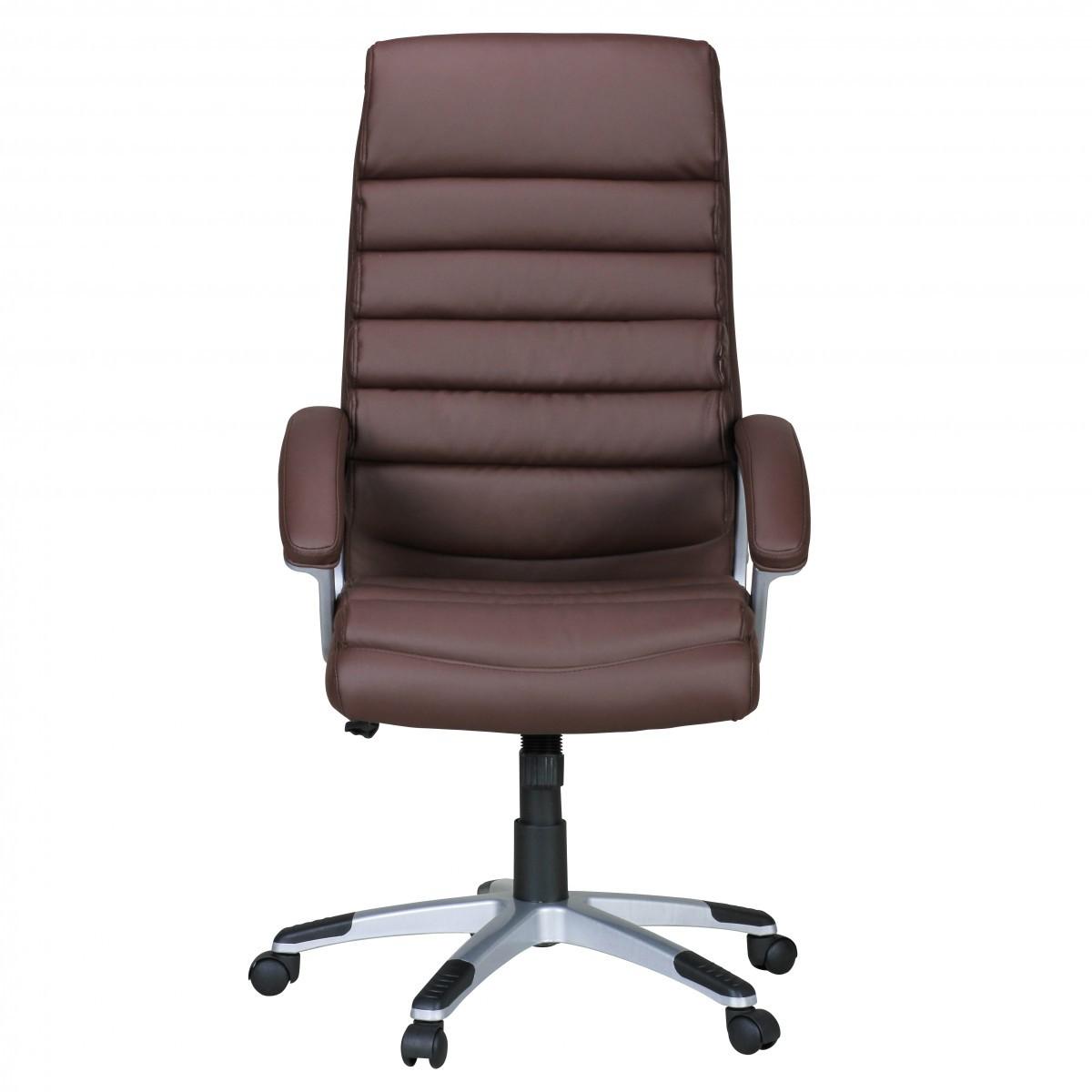 Design chefsessel b rostuhl drehstuhl leder optik braun for Extra breiter sessel