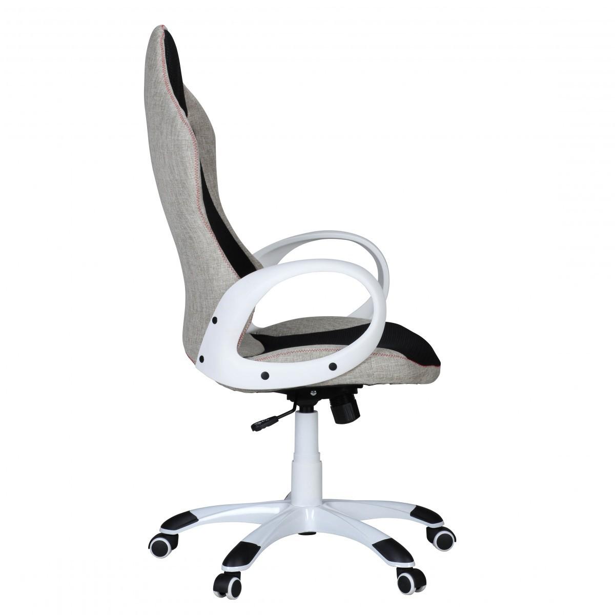 Bürostuhl weiß stoff  FineBuy Bürostuhl ROSO Stoffbezug Schreibtischstuhl Armlehne ...