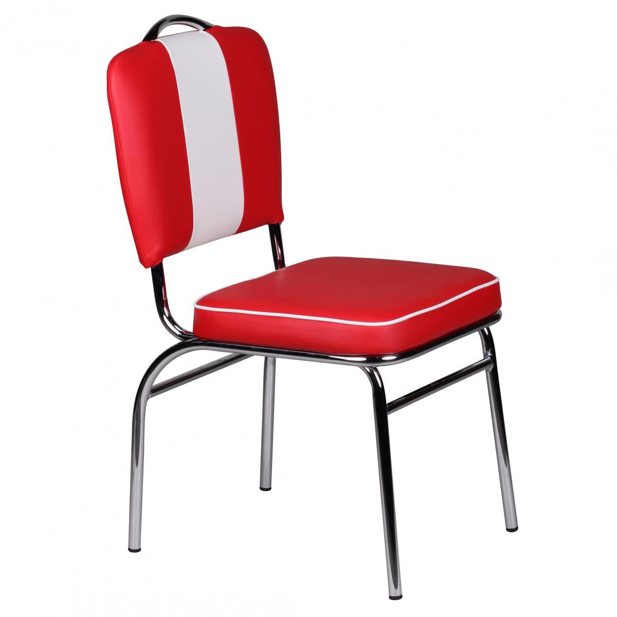 design esszimmerstuhl american diner 50er jahre retro rot. Black Bedroom Furniture Sets. Home Design Ideas