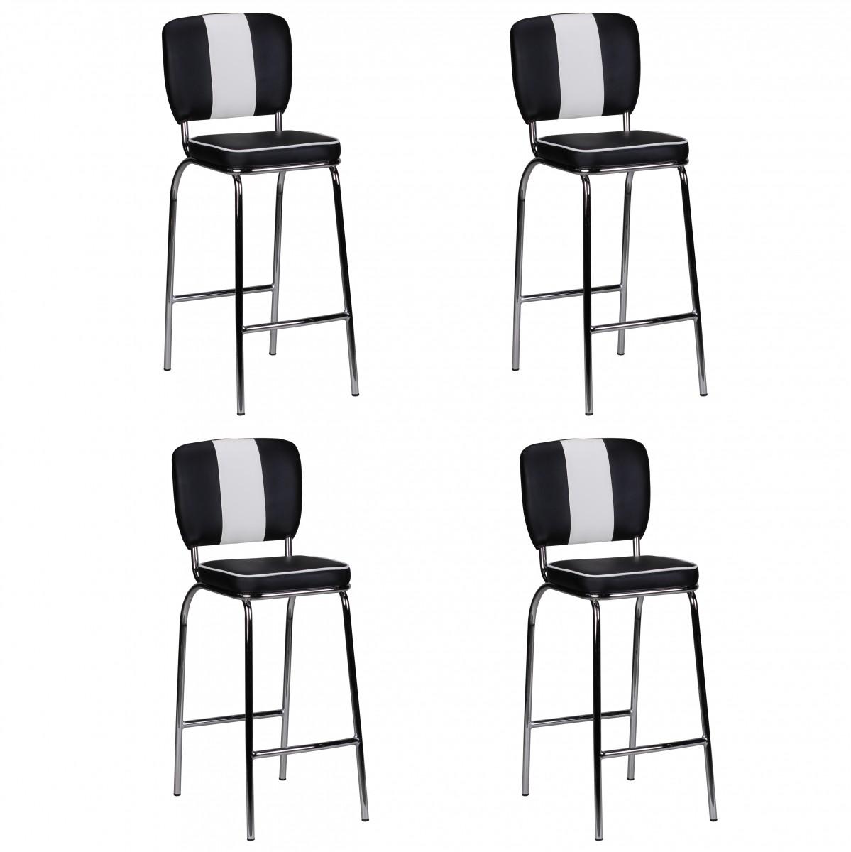 finebuy 4er set barhocker king american diner 50er jahre. Black Bedroom Furniture Sets. Home Design Ideas