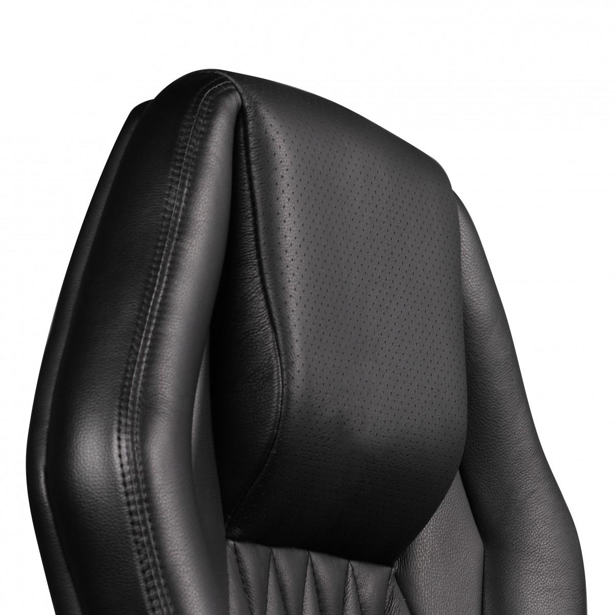 amstyle b rostuhl monterey echt leder schwarz schreibtischstuhl 120kg chefsessel hohe. Black Bedroom Furniture Sets. Home Design Ideas