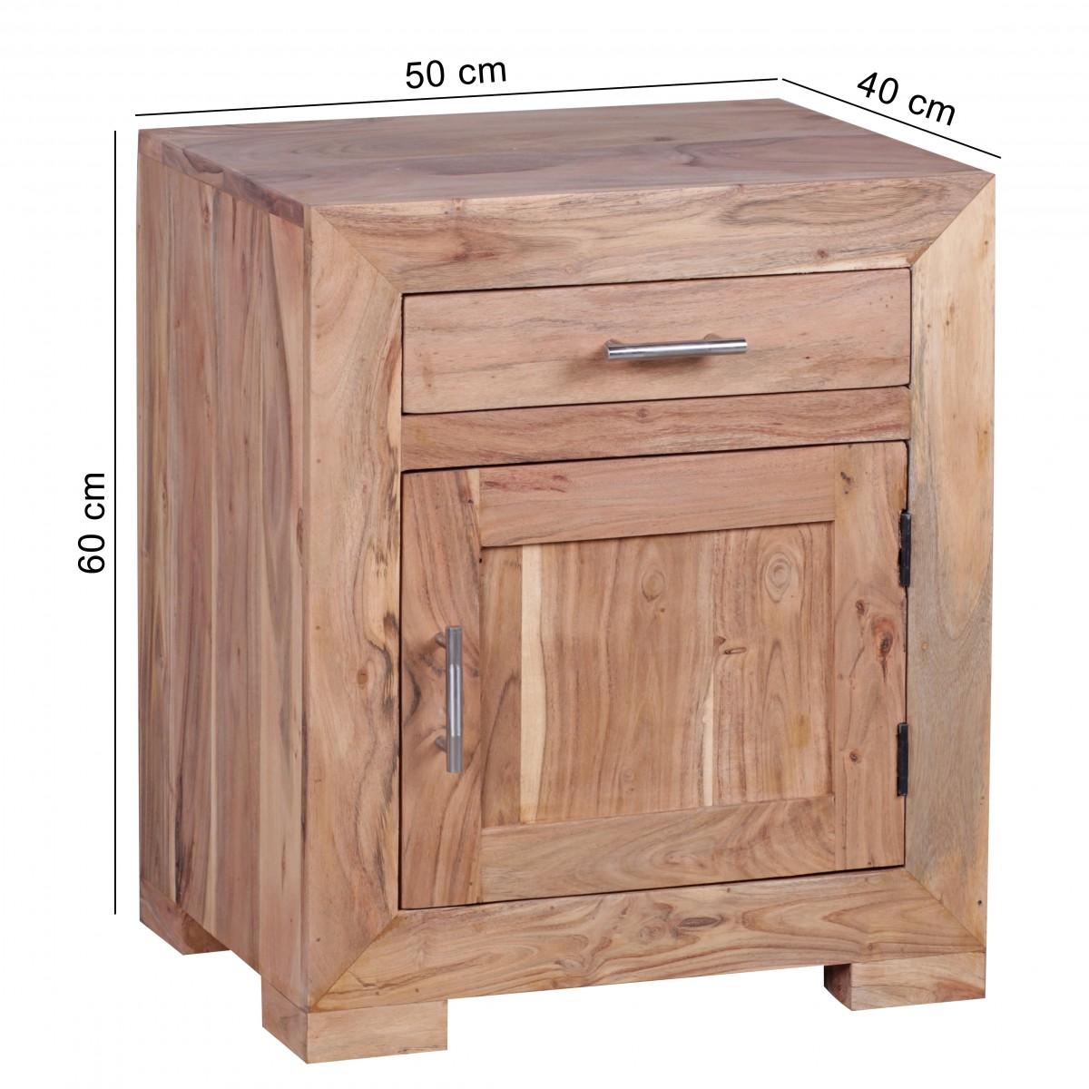 wohnling nachttisch mumbai massivholz akazie design. Black Bedroom Furniture Sets. Home Design Ideas