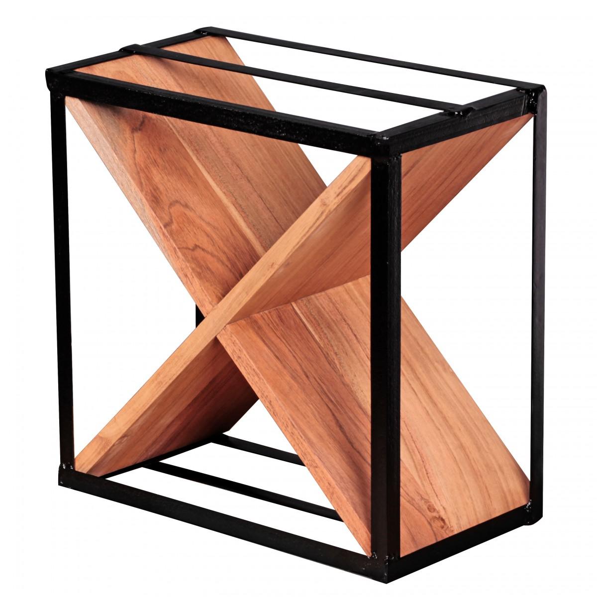 wohnling weinregal massiv holz akazie flaschenregal f r 16. Black Bedroom Furniture Sets. Home Design Ideas