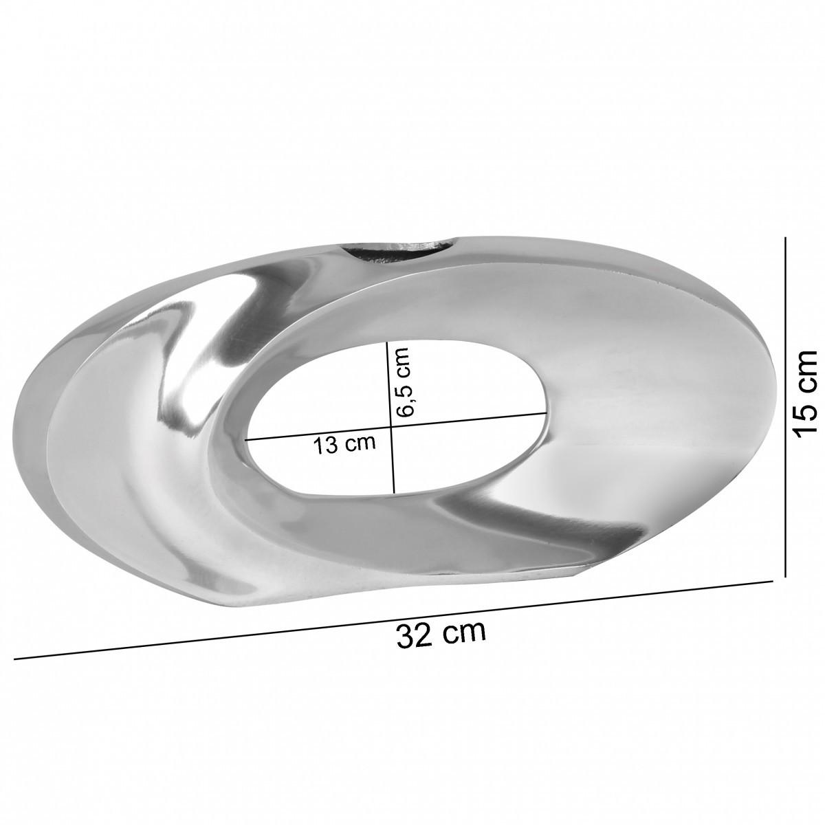 Finebuy deko vase klein iowa s aluminium modern mit 1 for Flurgarderobe schmal