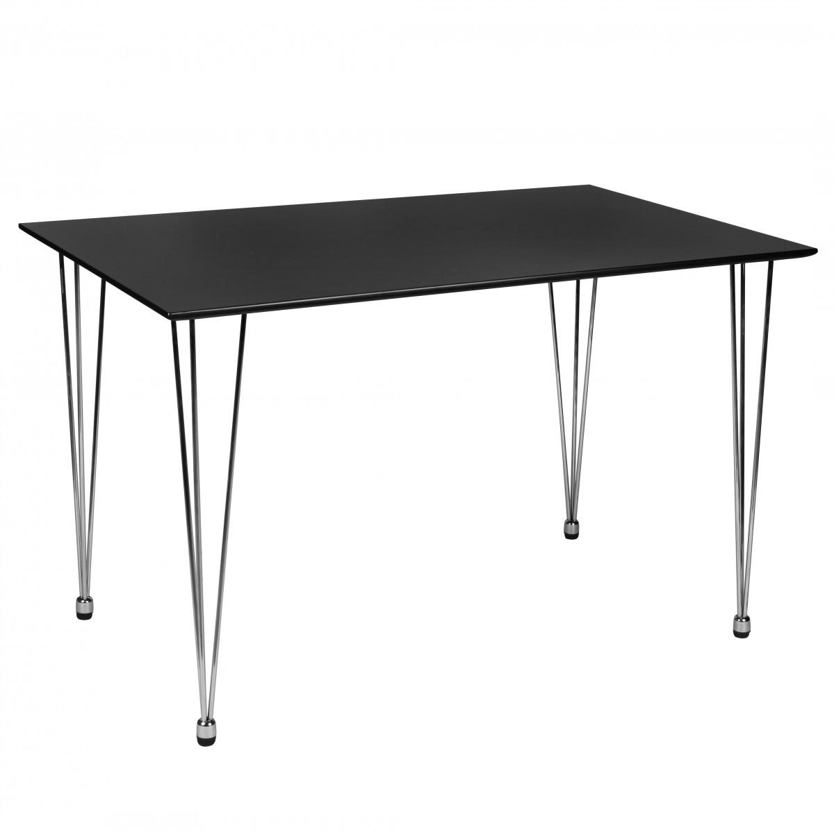 Finebuy design esstisch 120 x 80 x 76cm matt schwarz for Esstisch 70 x 120