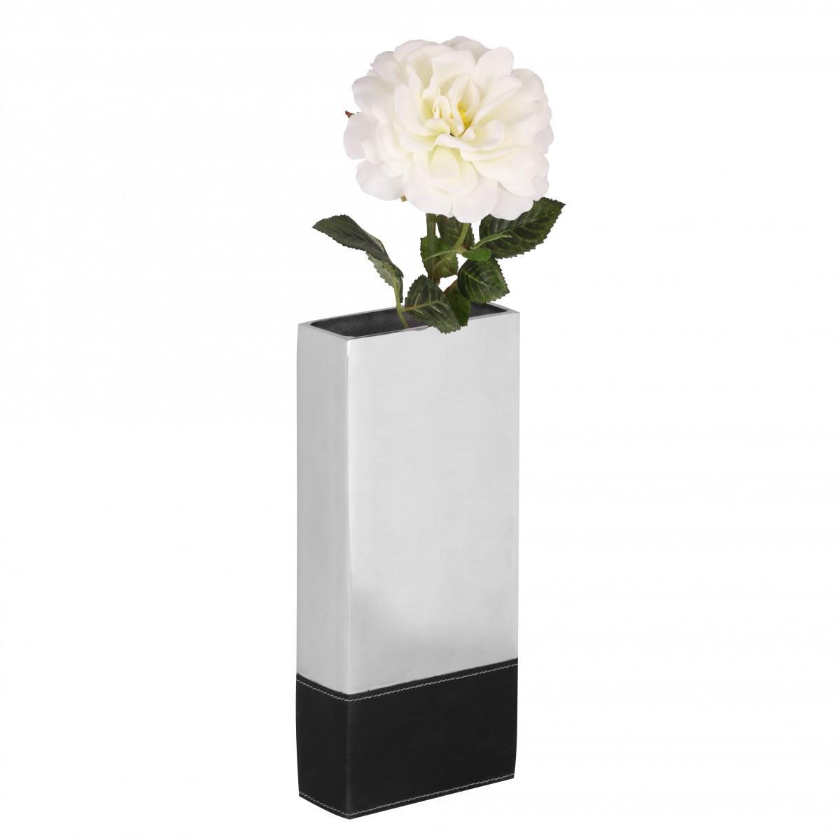 Finebuy deko vase gro garden l aluminium modern mit 1 for Flurgarderobe schmal