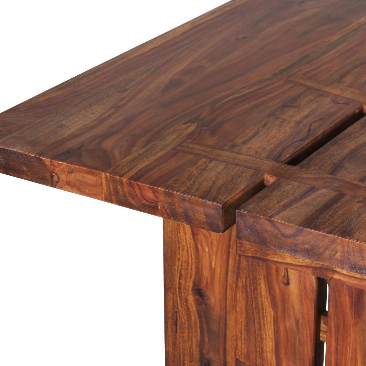 Holztisch design esstisch  FineBuy Esstisch Massivholz Sheesham 140 cm Esszimmer-Tisch ...