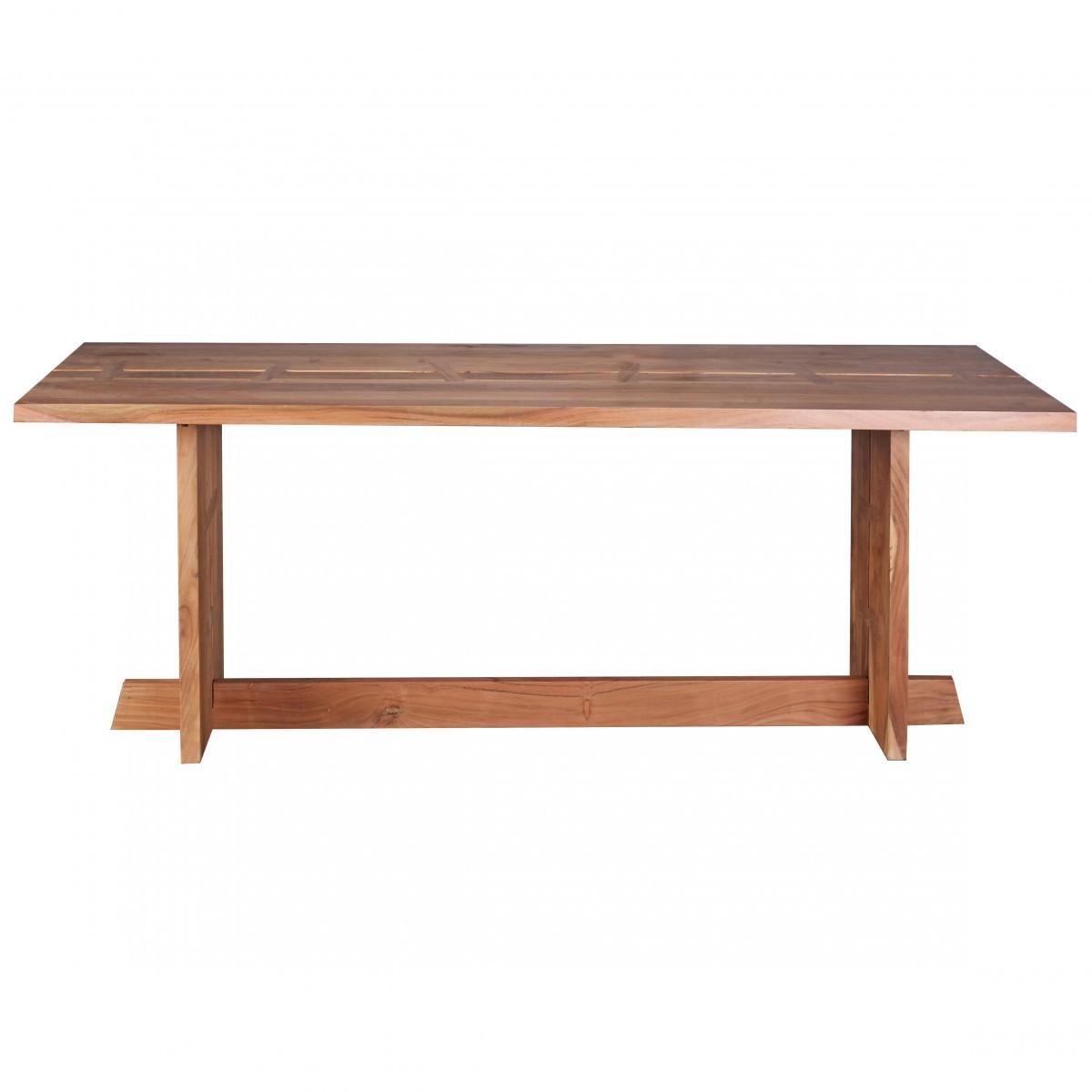 FineBuy Esstisch Massivholz Akazie 200 cm Esszimmer-Tisch ...
