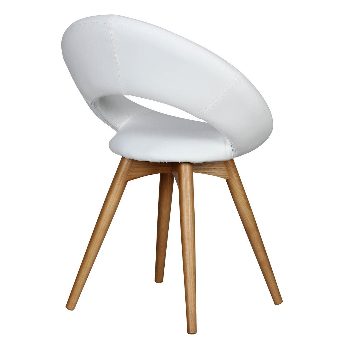 2er set esszimmerst hle skandi gepolstert mit holz beinen. Black Bedroom Furniture Sets. Home Design Ideas