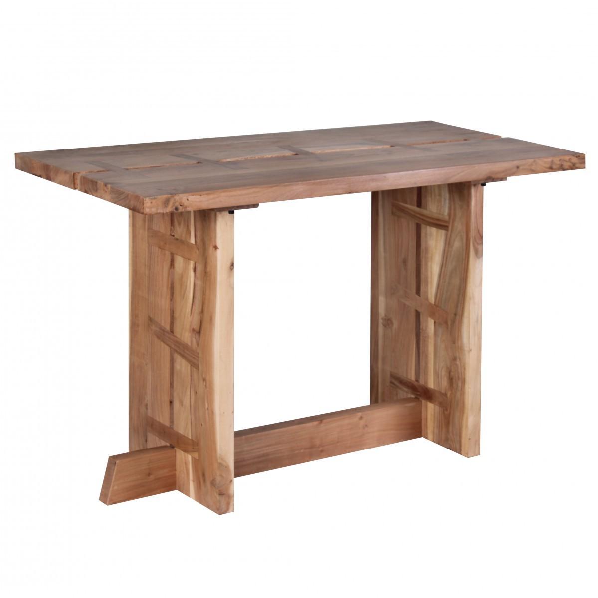 finebuy esstisch massivholz akazie 120 cm esszimmer tisch. Black Bedroom Furniture Sets. Home Design Ideas