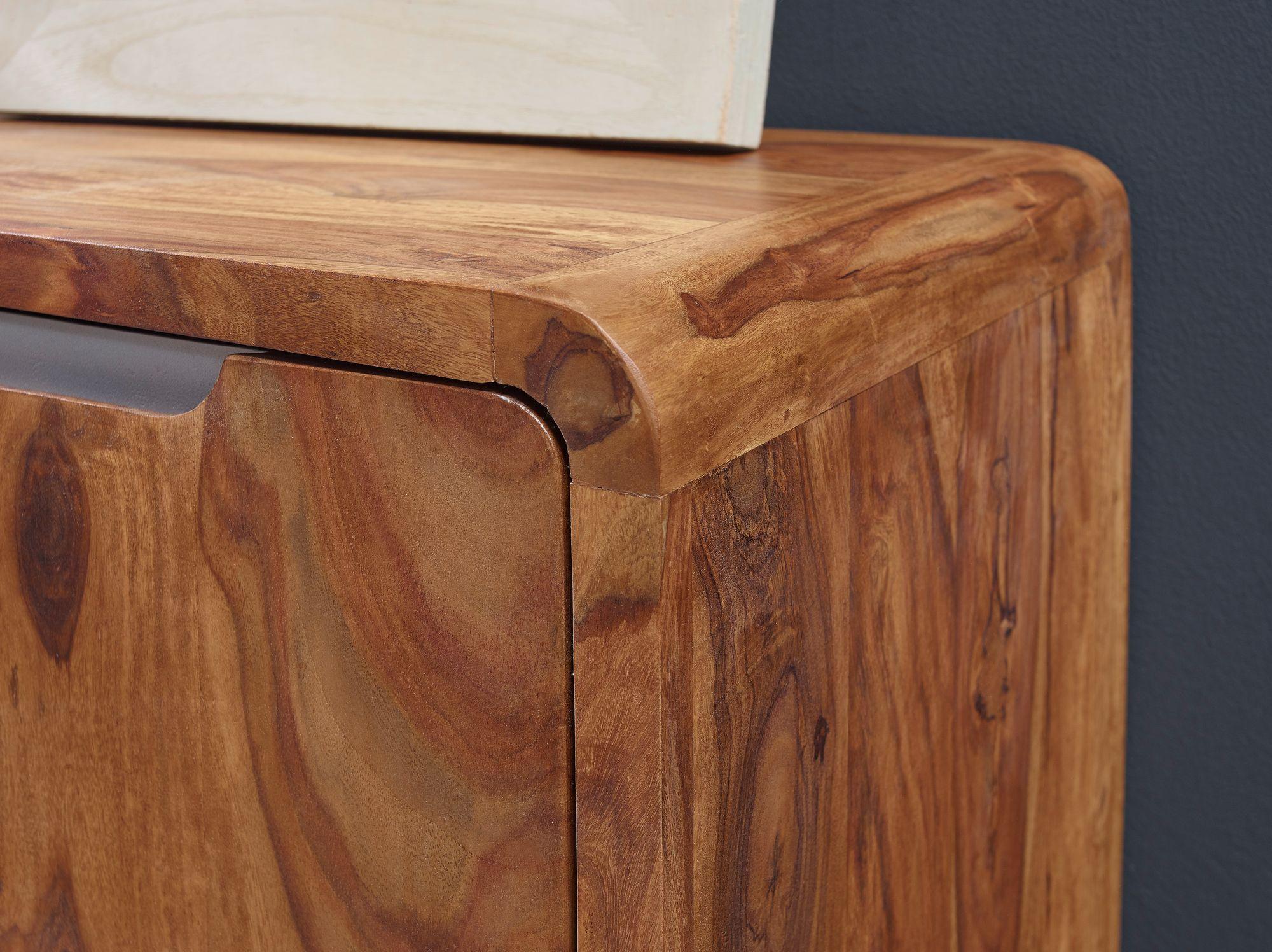 Finebuy Sideboard Sheesham Massivholz Kommode 145 X 45 X 80 Cm