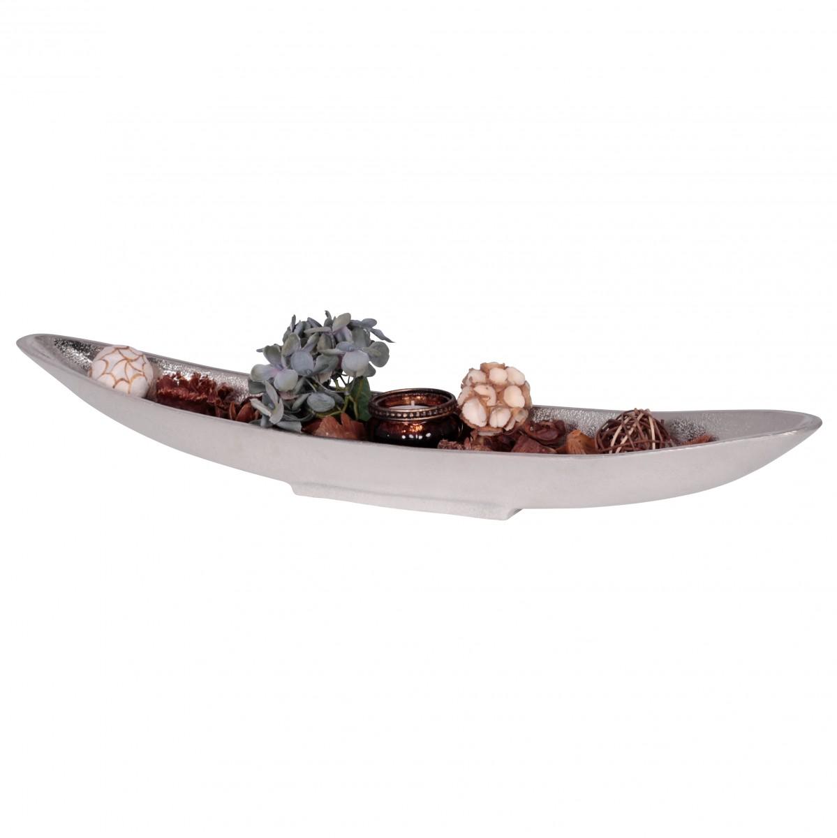 WOHNLING Dekoschale BIG BOAT Design-Deko modern Aluminiumschale ...