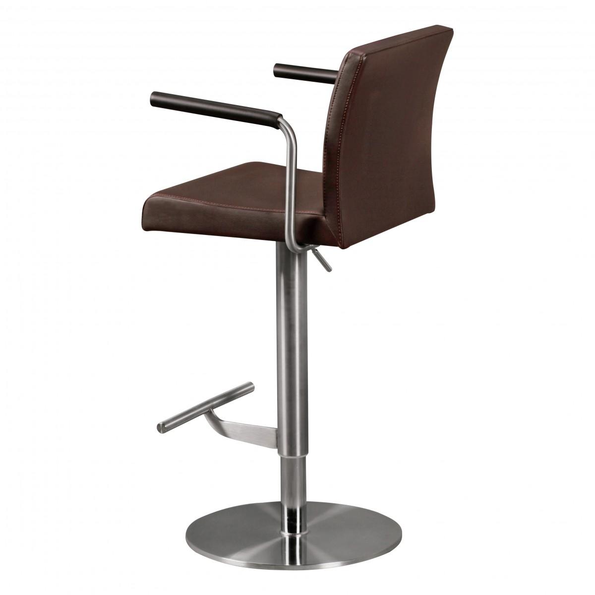 wohnling barhocker edelstahl m3 braun barstuhl. Black Bedroom Furniture Sets. Home Design Ideas