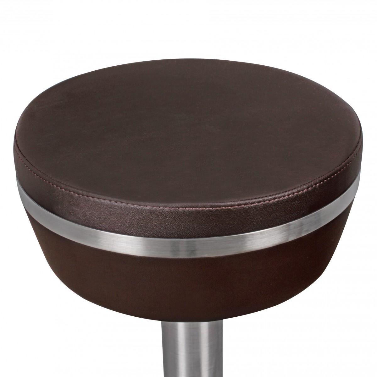 Wohnling durable m9 barhocker barstuhl tresenhocker design for Barhocker leder braun edelstahl