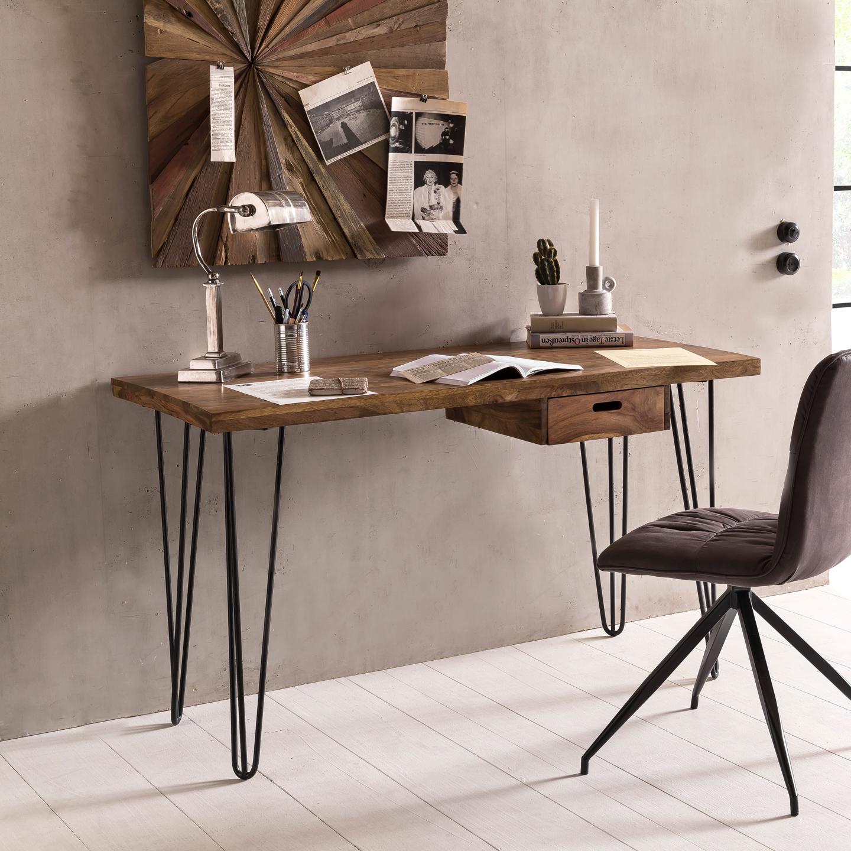 wohnling schreibtisch bagli 130 cm laptoptisch ablage. Black Bedroom Furniture Sets. Home Design Ideas