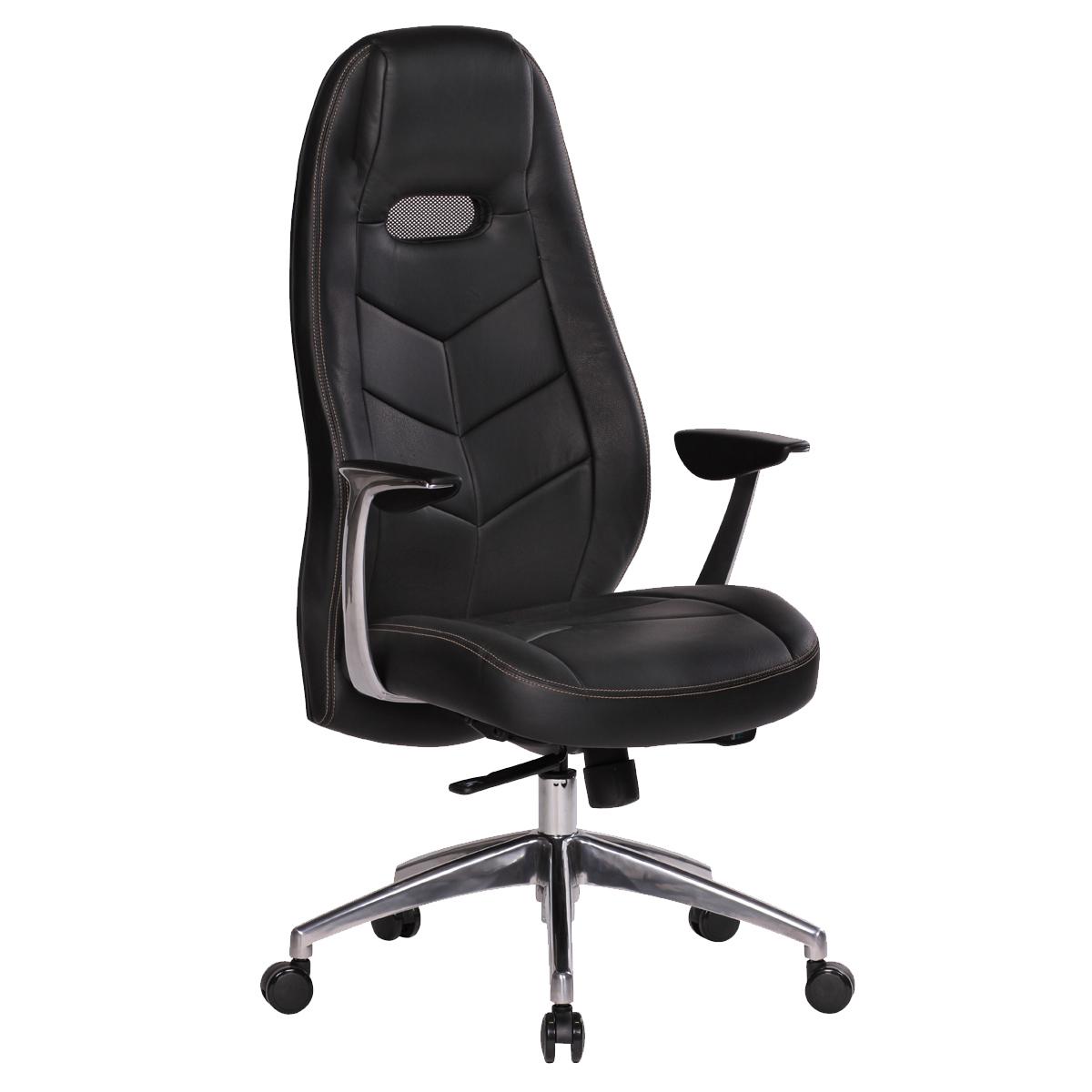 Finebuy Bürostuhl Echtleder Schreibtischstuhl Chefsessel Sessel