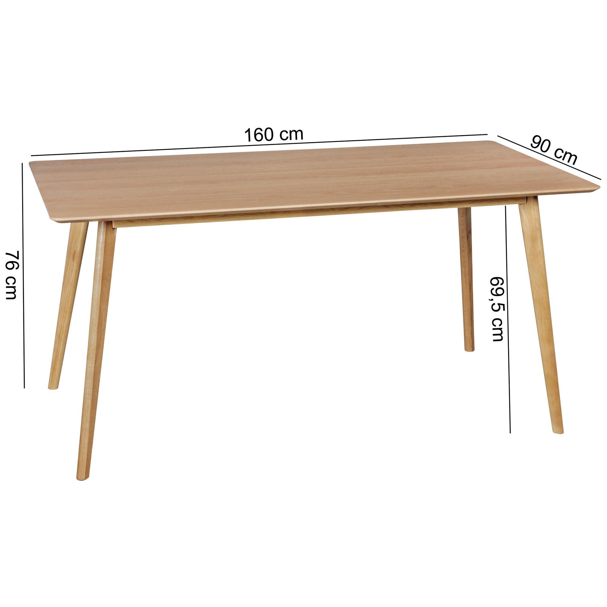 Esszimmertisch 160x90 Cm MDF Esstisch Skandinavisch