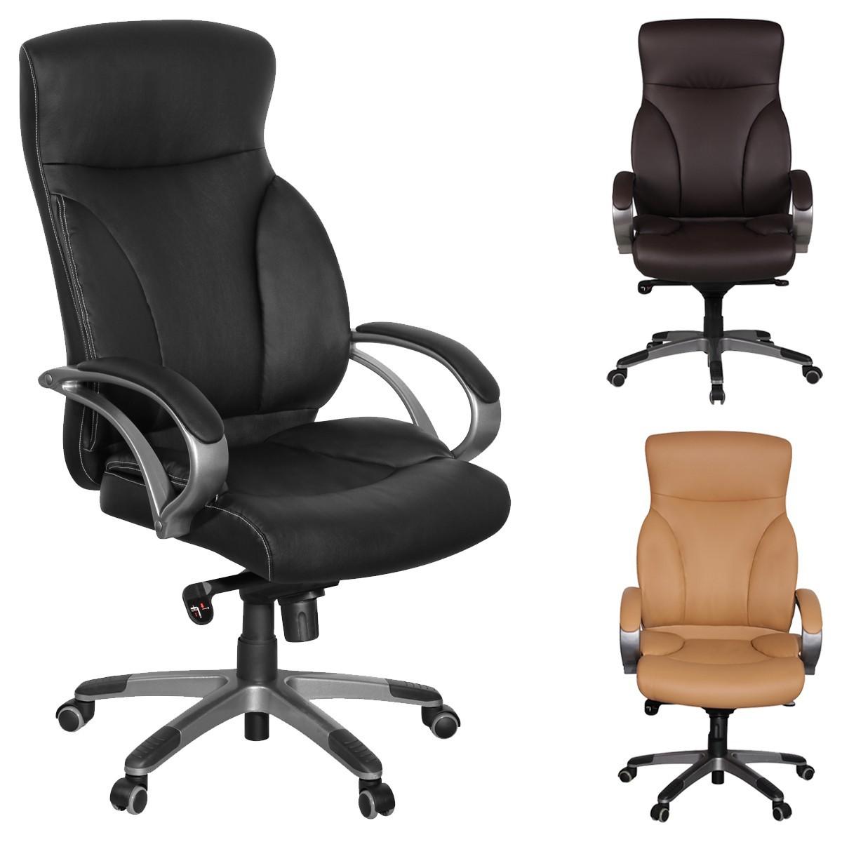 Drehstuhl ergonomisch  FineBuy BONN Bürostuhl ergonomisch Schreibtischstuhl Kunstleder ...