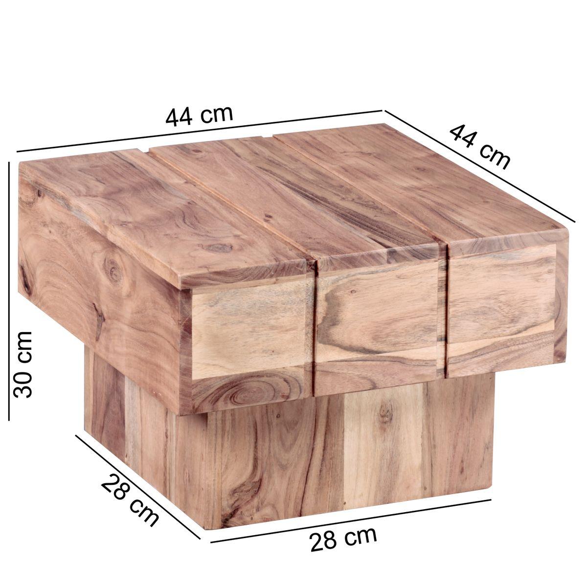 FineBuy Beistelltisch Massivholz Wohnzimmertisch 44 x 44 x 30 cm ...