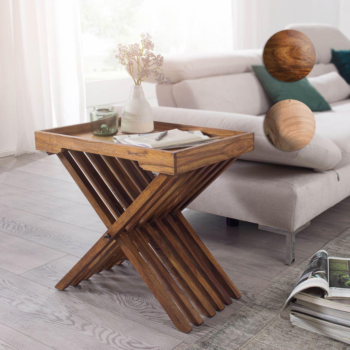finebuy beistelltisch klappbar massiv holz couchtisch klapptisch tablett tisch ebay. Black Bedroom Furniture Sets. Home Design Ideas