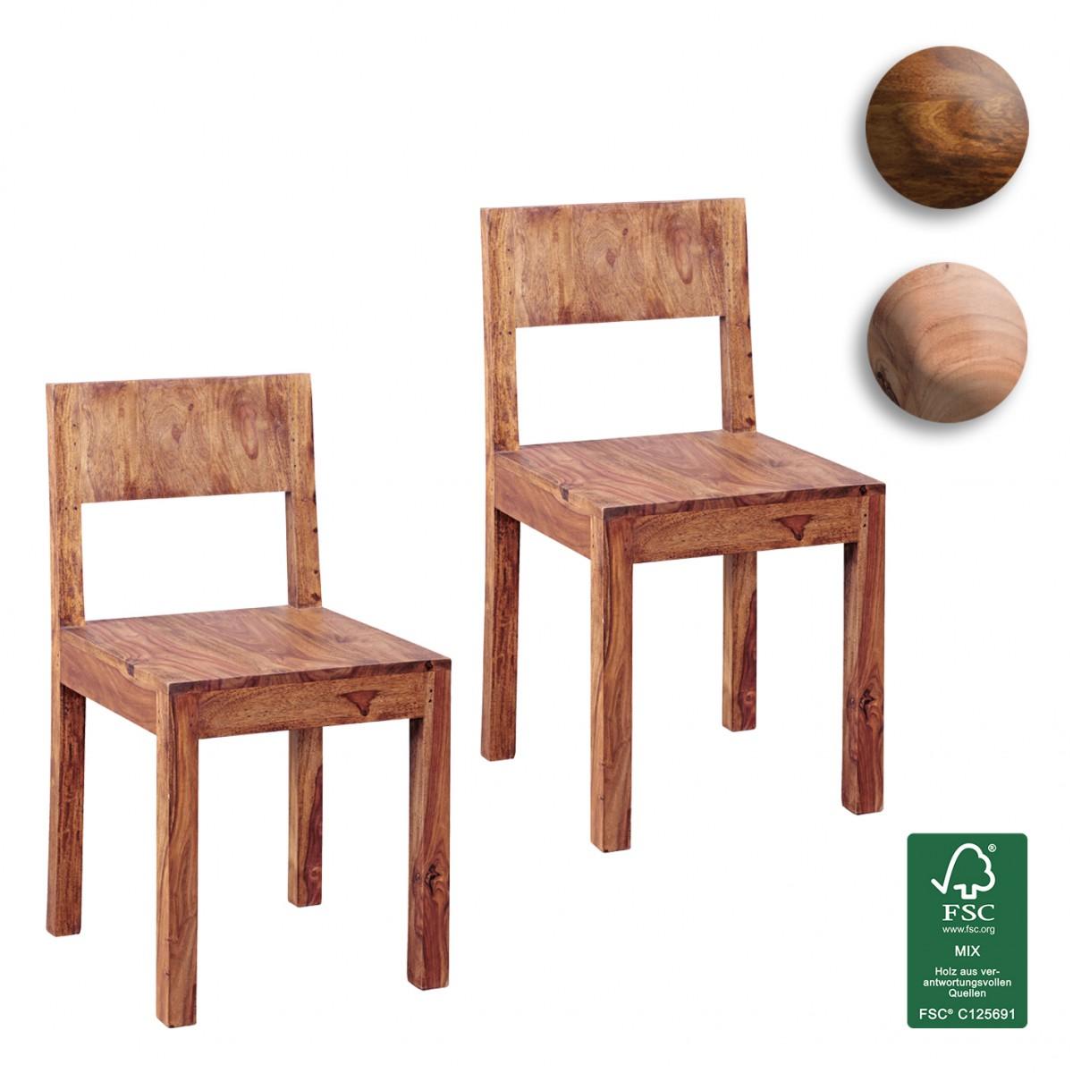 Esszimmerstühle modern braun  FineBuy Esszimmerstühle 2er Set Massiv-Holz Design Küchen-Stühle ...