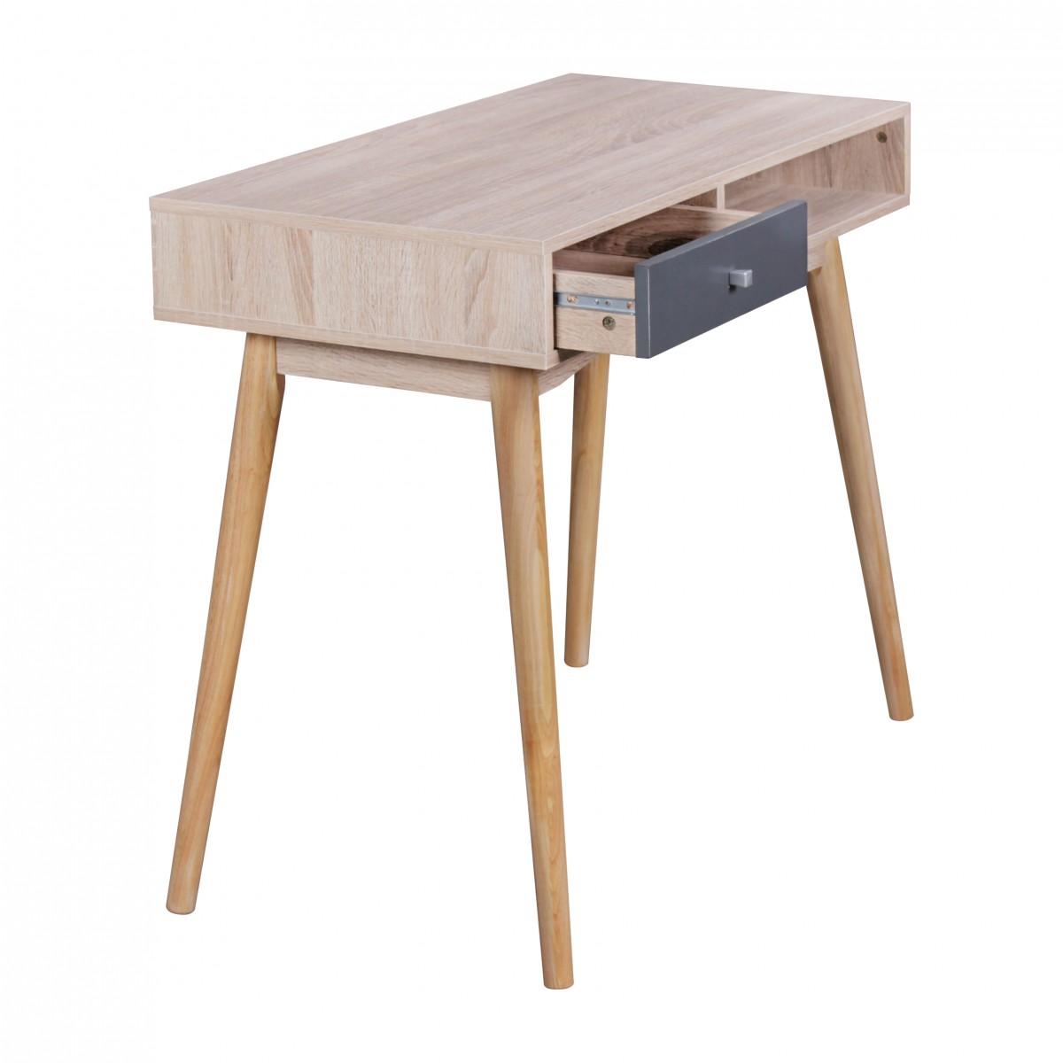 FineBuy Schreibtisch 90 X 78 X 45 Cm Mit Schublade In Sonoma Eiche |  Computertisch Im ...