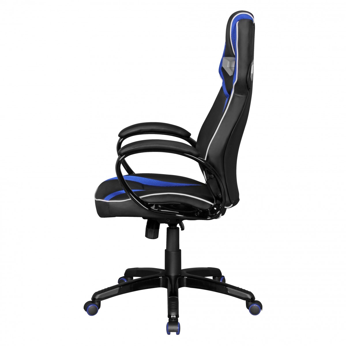 Amstyle Burostuhl Gamestar Schwarz Blau Gaming Stuhl Gamerstuhl Racing Chair