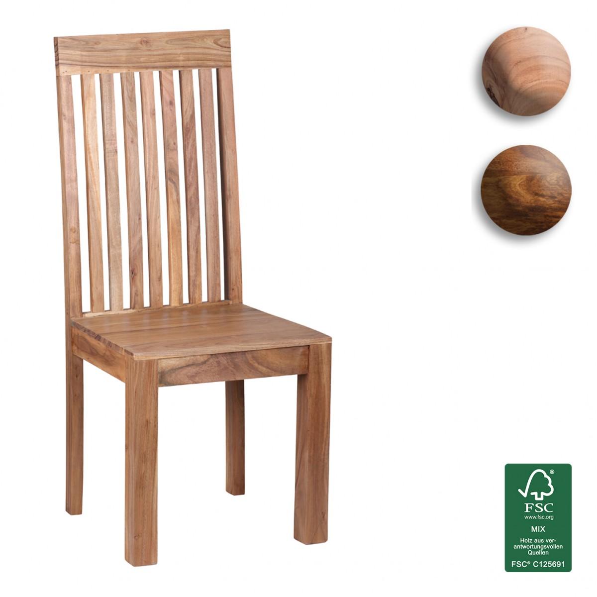 2 Esszimmerstühle Holz 2er Set Massivholz Küchenstühle Stuhlgruppe ...