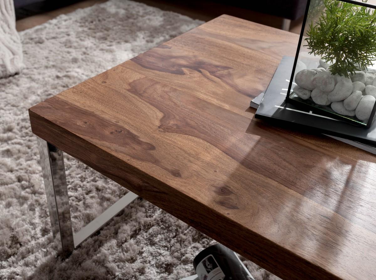 Massiver Couchtisch Java 120cm Wohnzimmertisch Holz Tisch Massiv