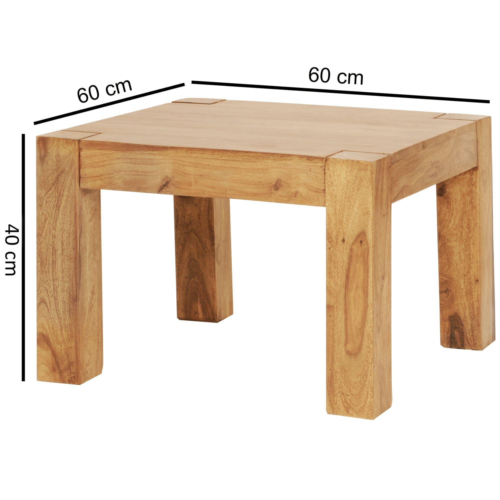 Malerisch Couchtisch Holz Massiv Foto Von Great Massiver Patan X X Cm Quadratisch