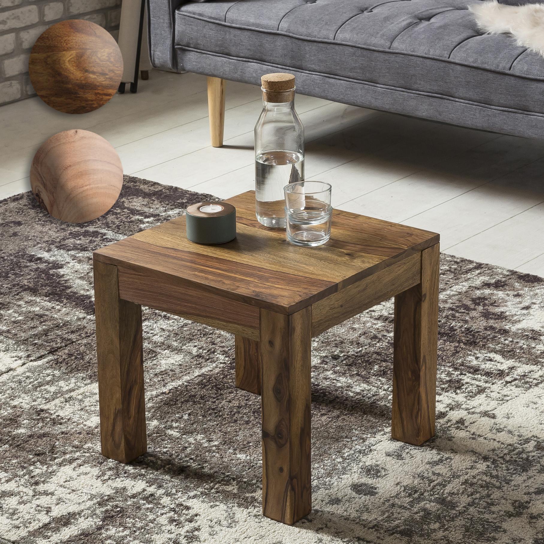 couchtisch holz massiv wohnzimmertisch beistelltisch tisch 45cm quadratisch ebay. Black Bedroom Furniture Sets. Home Design Ideas