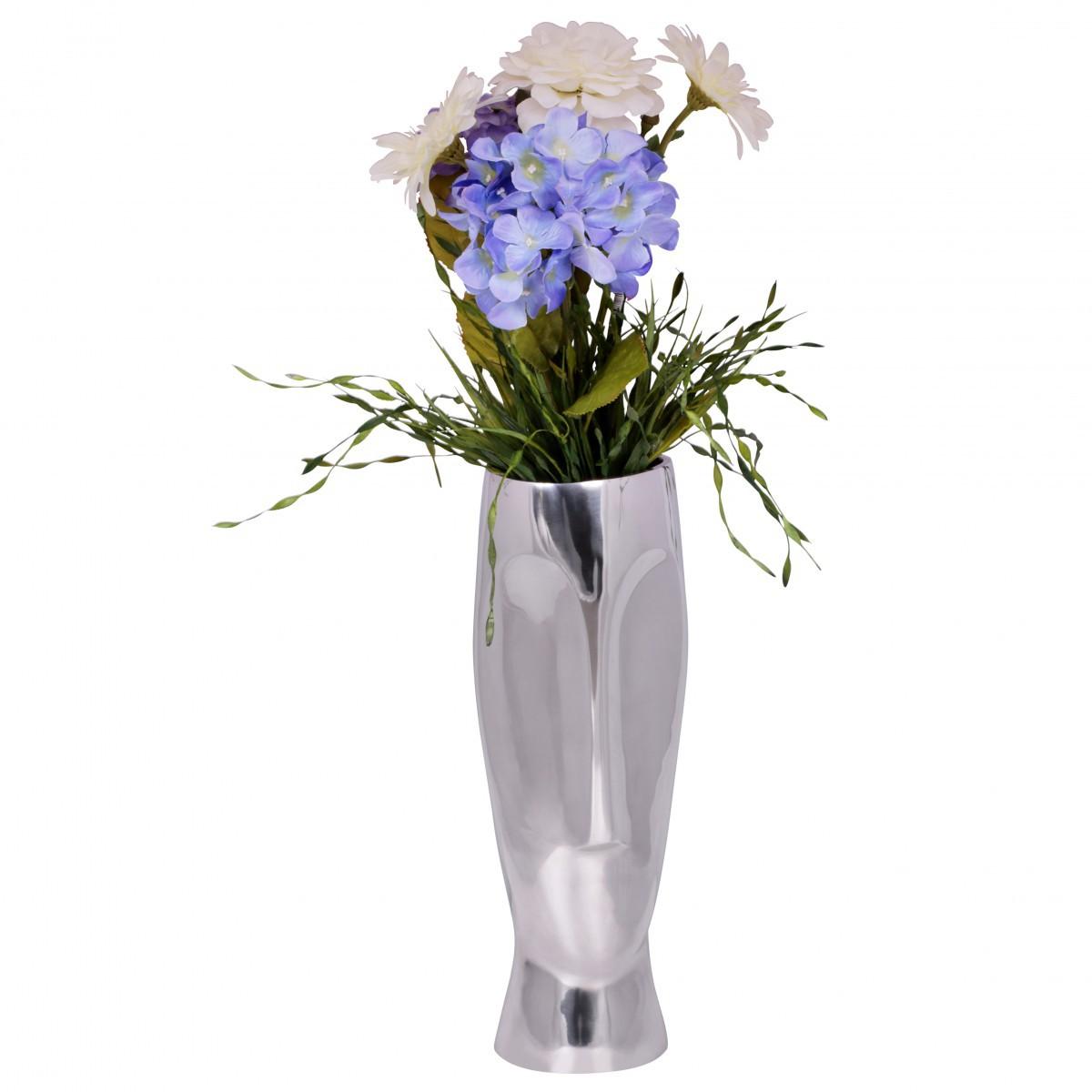 Finebuy deko vase gro trophy aluminium modern mit 1 for Flurgarderobe schmal