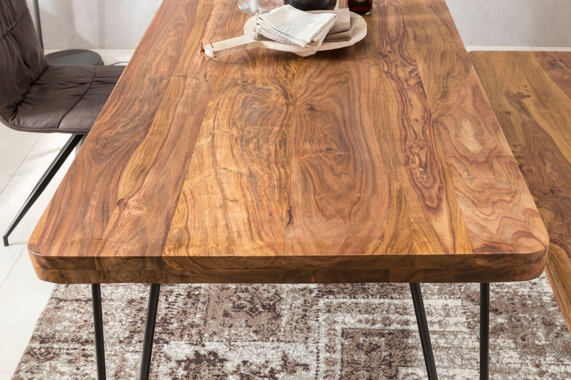 Beeindruckend Tisch Esszimmer Das Beste Von Massiver Esstisch Harlem Sheesham Massiv Holz |