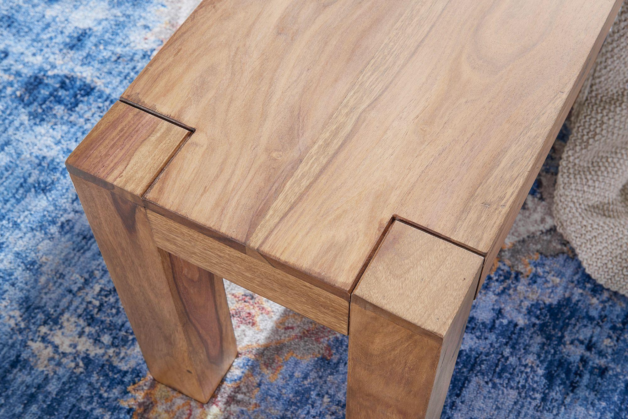 Finebuy Esszimmer Sitzbank Massiv Holz Akazie Holz Bank Natur Produkt Kuchenbank Im Landhaus Stil Grosse Wahlbar