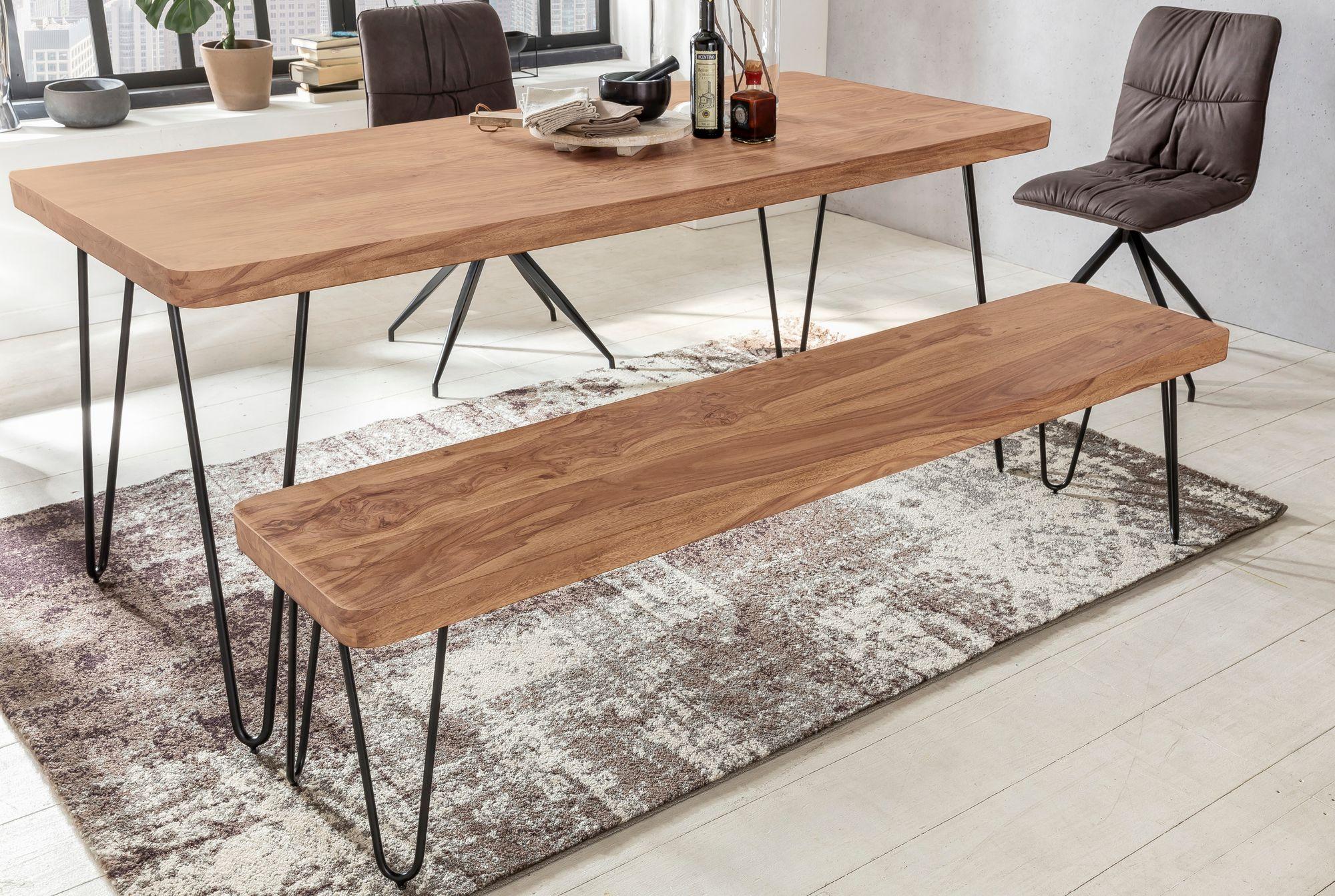 Bezaubernd Bank Für Esstisch Das Beste Von Finebuy Massive Sitzbank Harlem Akazie Holz Für